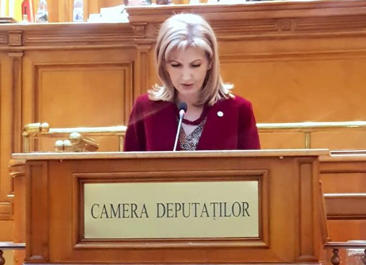 Deputatul Elena Dinu, o nouă declaraţie politică în plenul Camerei Deputaţilor