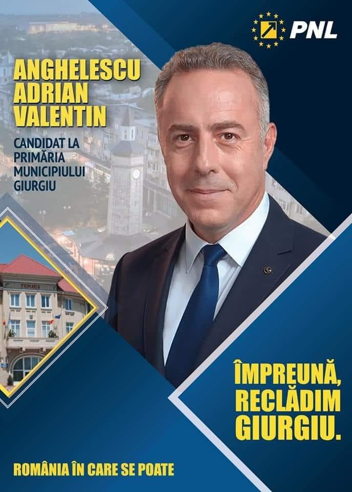 Viziunea pentru Giurgiu a candidatului PNL la Primăria Giurgiu, Adrian Anghelescu