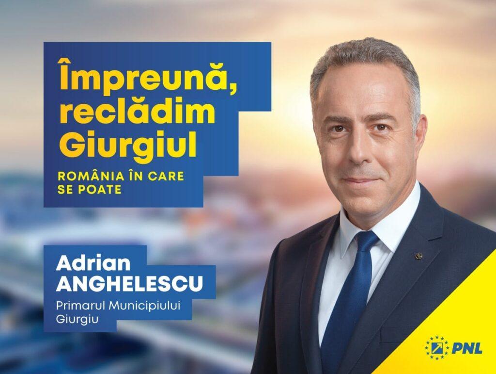Adrian Anghelescu, candidatul PNL la Primăria Giurgiu, ne propune un program ambiţios care să transforme Giurgiu într-un oraş verde