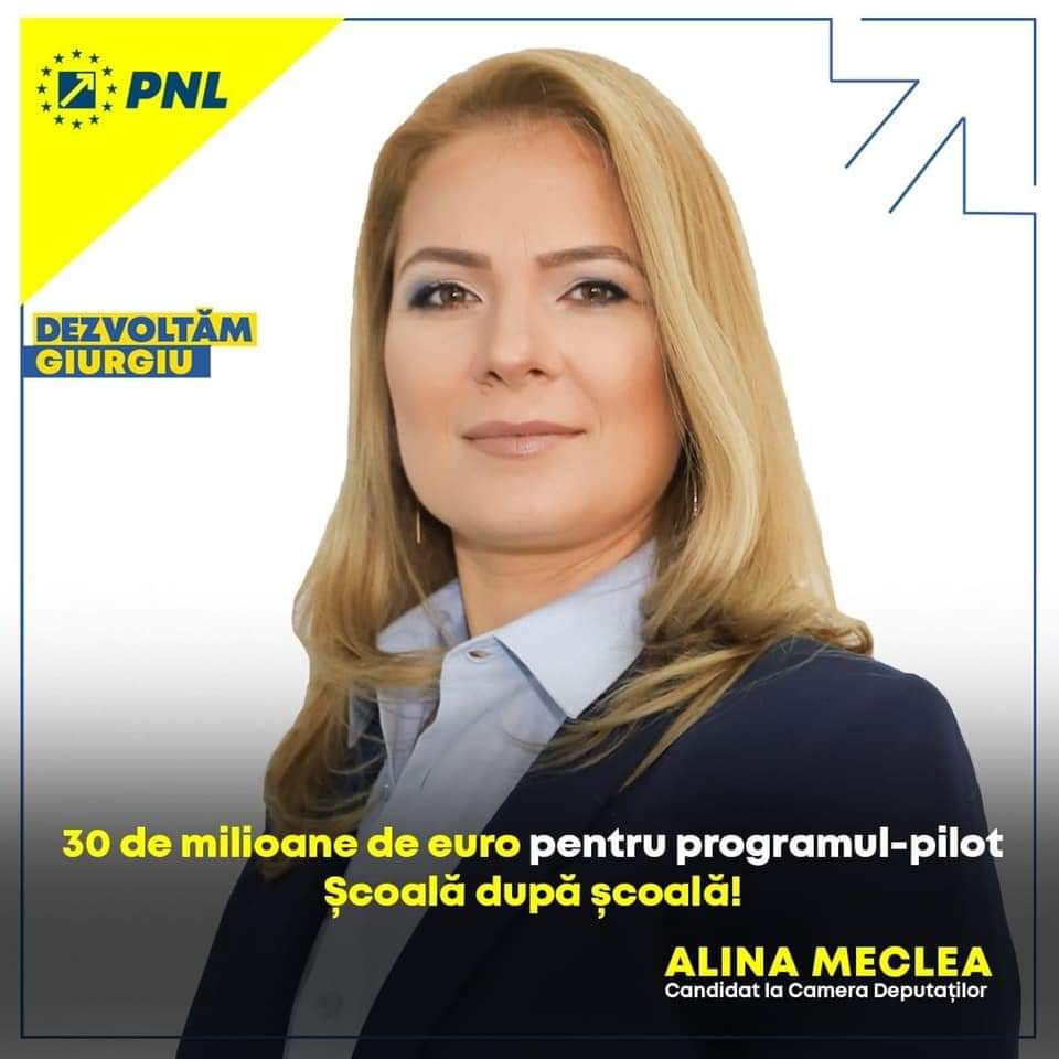 Profil de candidat. Alina Meclea pentru Camera Deputaţilor din partea PNL Giurgiu