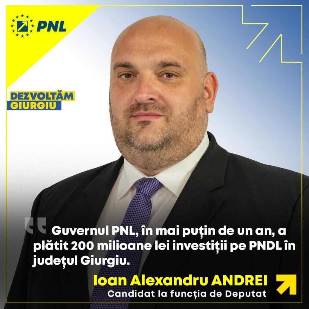 Alexandru Andrei: Investițiile în infrastructură vor reda demnitatea județului Giurgiu